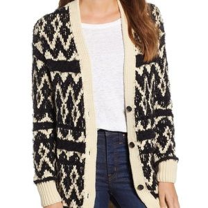 NWT Lucky Brand Fair Isle Cardigan Sweater